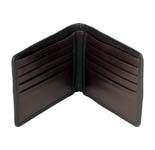 Send this branded hidesign wallet made of comfortable soft leather and sufficient space for credit cards, currency and license. Colour as per your choice. (Brown or Black).