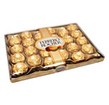 Box of soft crispy Fererro Rosher (24 pcs) just the right gift for someone you love.